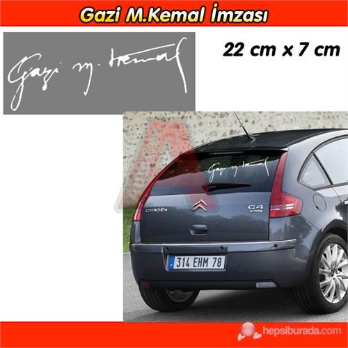 AutoCet Gazi M.Kemal İmza Sticker Beyaz 3236a
