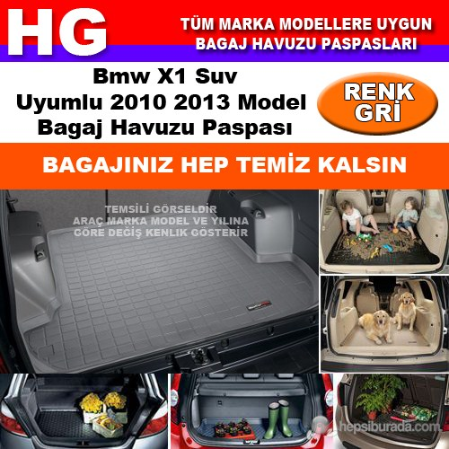 Bmw X1 2010 2013 Gri Bagaj Havuzu Paspası 38648