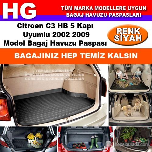 Citroen C3 2002 2009 Siyah Bagaj Havuzu Paspası 38679
