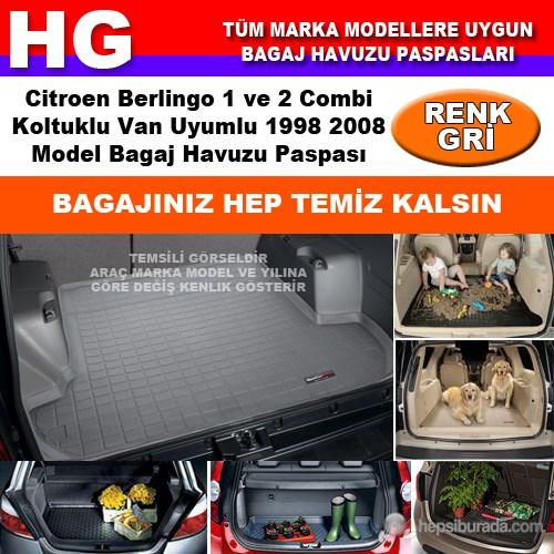 Citroen Berlingo 1-2 Koltuklu 1998 2008 Gri Bagaj Havuzu Paspası 38687