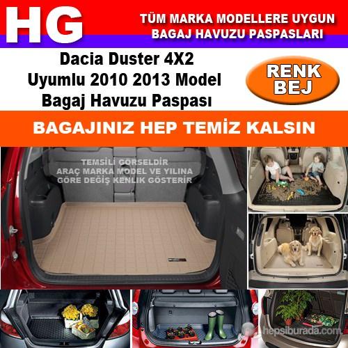 Dacia Duster 4X2 2010 2013 Bej Bagaj Havuzu Paspası 38722