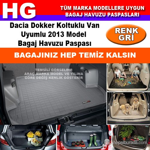Dacia Dokker 2013 Gri Bagaj Havuzu Paspası 38727