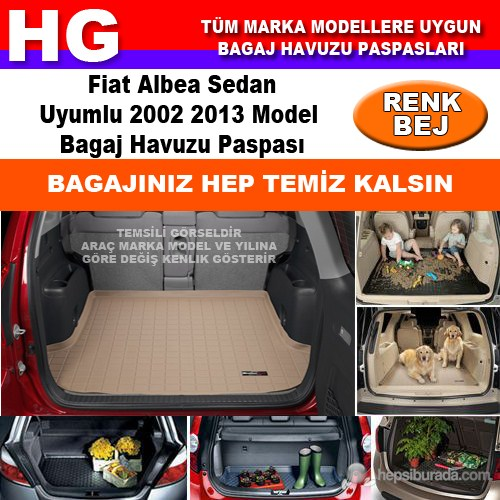 Fiat Albea 2002 2013 Bej Bagaj Havuzu Paspası 38738