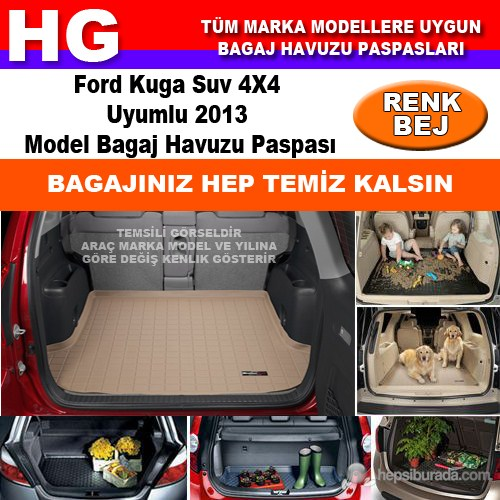 Focus Kuga 2013 Bej Bagaj Havuzu Paspası 38806