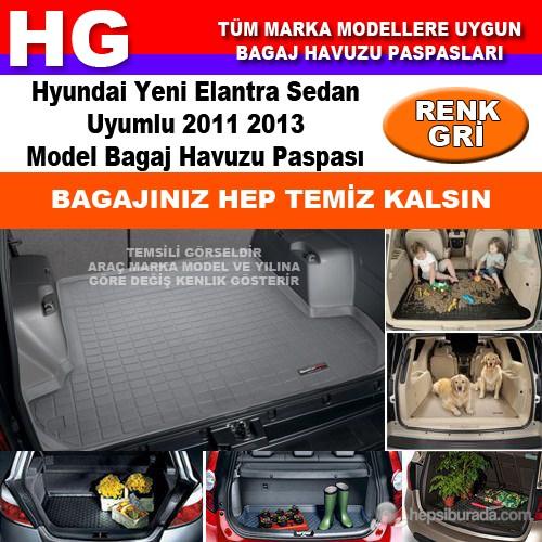 Hyundai Yeni Elantra 2011 2013 Gri Bagaj Havuzu Paspası 38853