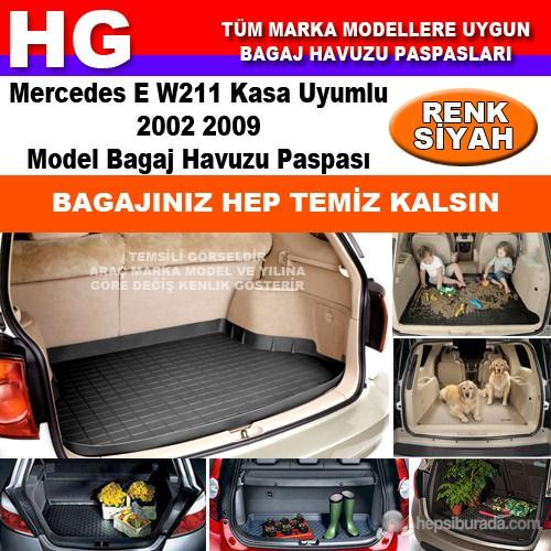 Mercedes E W211 2002 2009 Siyah Bagaj Havuzu Paspası 38906