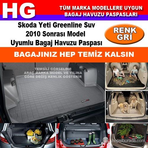 Skoda Yeti Greenline 2010 Sonrası Gri Bagaj Havuzu Paspası 39095