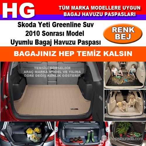 Skoda Yeti Greenline 2010 Sonrası Bej Bagaj Havuzu Paspası 39096