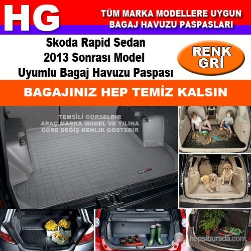 Skoda Rapid 2013 Sonrası Gri Bagaj Havuzu Paspası 39101