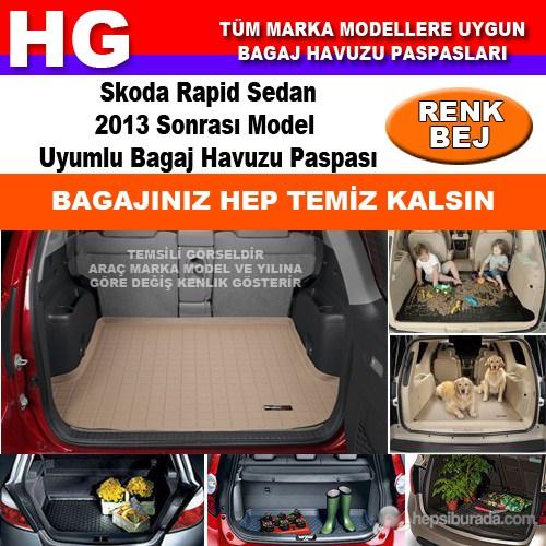 Skoda Rapid 2013 Sonrası Bej Bagaj Havuzu Paspası 39102