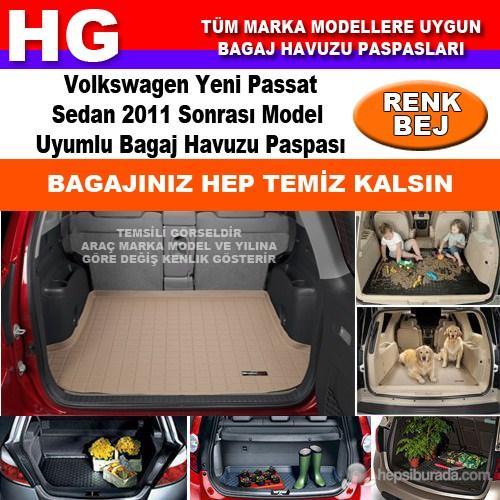 Yeni Passat Sedan 2011 Sonrası Bej Bagaj Havuzu Paspası 39144