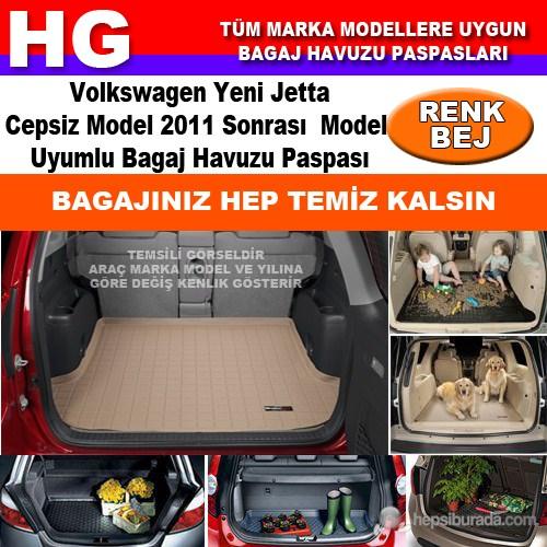 Yeni Jetta Cepsiz 2011 Sonrası Bej Bagaj Havuzu Paspası 39152
