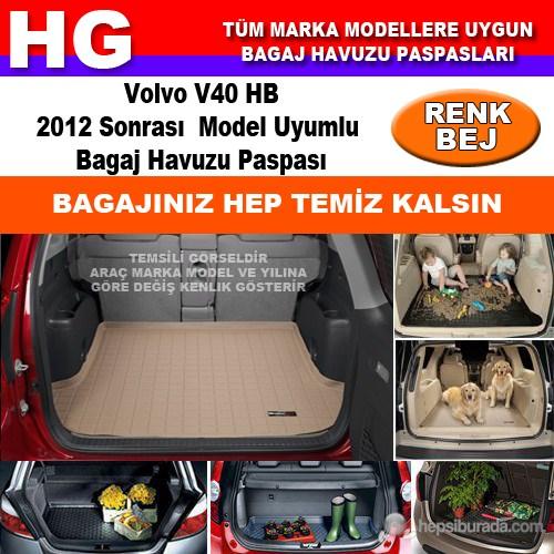 Volvo V40 Hb 2012 Sonrası Bej Bagaj Havuzu Paspası 39164