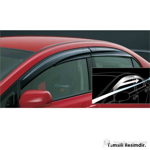AutoCet HYUNDAI Accent Blue 2011 Mugen 4lü Rüzgarlık Seti -3318a