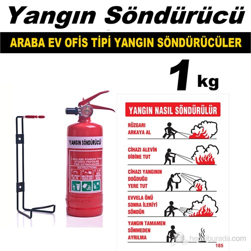 Yangın Söndürme Cihazı Ev Araba Ve Ofis Tipi 1 Kg 40094