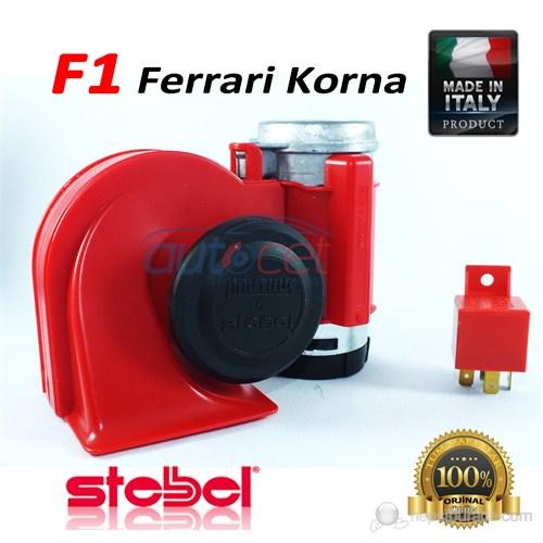 Stebel Ferrari Havalı Korna Kırmızı 12 Volt Made in Italy 3411a