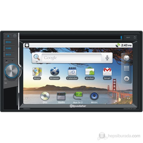 Roadstar RD-9200u Double Din Android CD/DVD, İnternet, Multimedya ve Navigasyon Sistemi