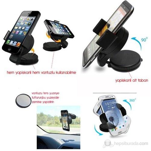 ModaCar Mini 360° Dönebilen PDA/Telefon Tutucu Çift Fonksiyon 13c008