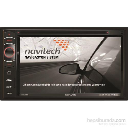 Navitech NX-206 Y Araç Navigasyon ve Multimedya Sistemi (Harici TV alıcısı ve anteni hediyeli)