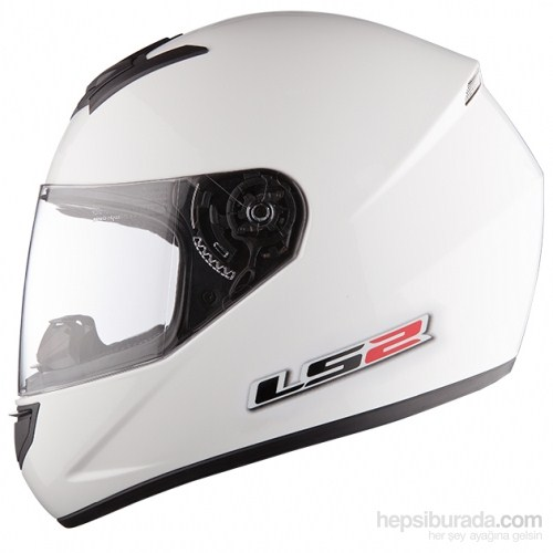 LS2 FF351 Single Mono Kapalı Kask Beyaz