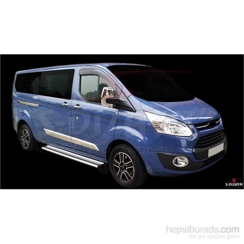 S-Dizayn Ford Tourneo Yan Kapı Çıtası 4 Prç P.Çelik (2012)