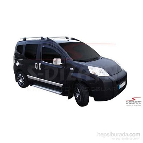 S-Dizayn Peugeot Bipper Cam Çıtası 2 Prç. P.Çelik (2008>)