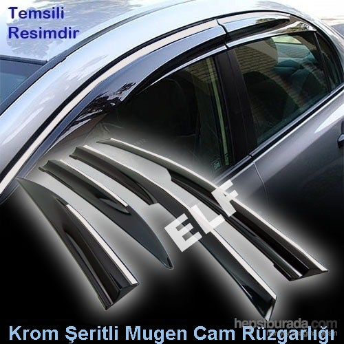 Z tech Fiat Linea Mugen Cam Rüzgarlığı (Krom Şeritli)