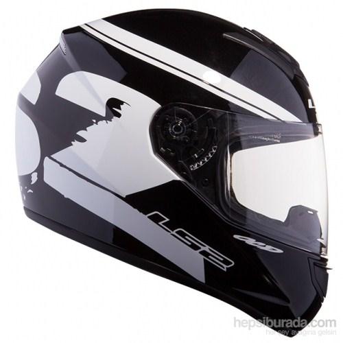 LS2 FF351 Fluo Siyah-Beyaz Kapalı Kask