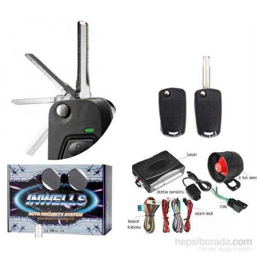 Inwells Oto Alarm Seti Sustalı Anahtar 99d3227