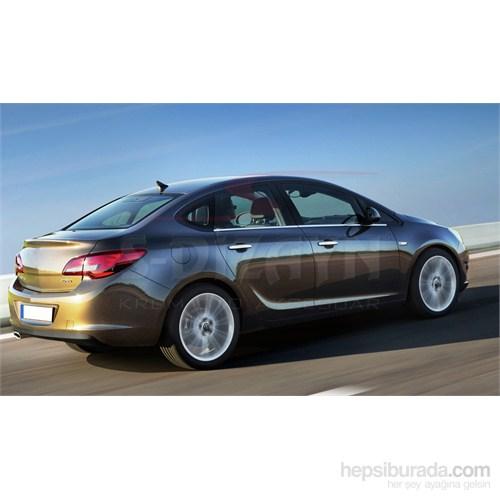 S-Dizayn Opel Astra J (Sedan) 2012> Model Ve Üzeri Cam Çıtası 4 Prç. Krom P.Çelik (Sedan)
