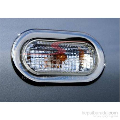 S-Dizayn Seat Ibiza 2010> Model Ve Üzeri Sinyal Çerçevesi 2 Prç. Krom P.Çelik
