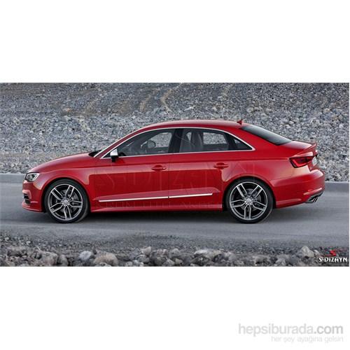 S-Dizayn Audi A3 2013 Üzeri Sd Kapı Koruma Çıtası Krom P.Çelik + Abs Plastik 8 Prç.