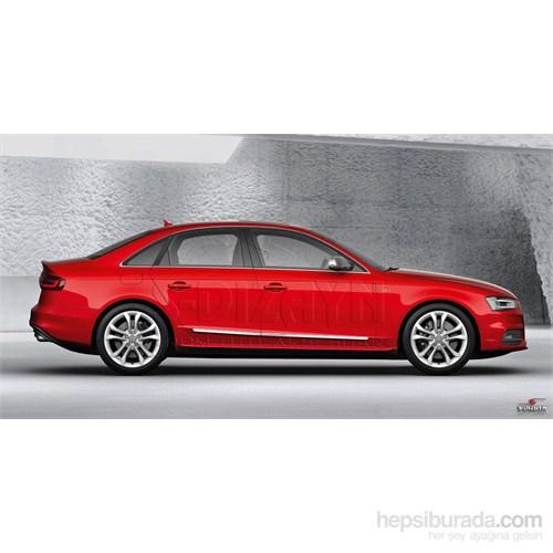 S-Dizayn Audi A4 2008 Üzeri Kapı Koruma Çıtası Krom P.Çelik + Abs Plastik 8 Prç.