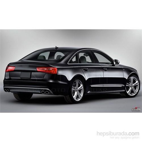 S-Dizayn Audi A6 2012 Üzeri Kapı Koruma Çıtası Krom P.Çelik + Abs Plastik 8 Prç.