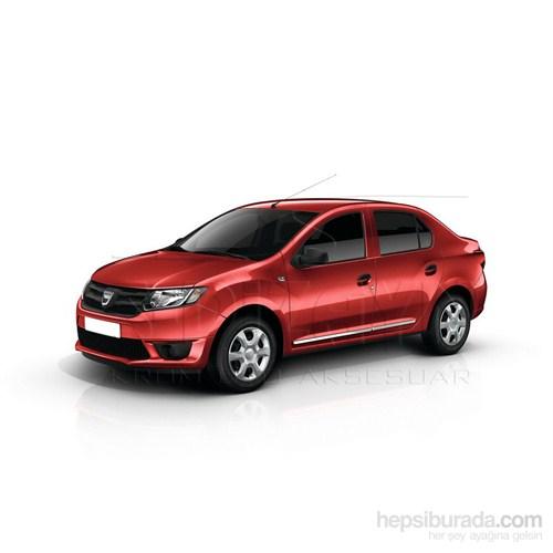 S-Dizayn Dacia Logan 2013 Üzeri Kapı Koruma Çıtası Krom P.Çelik + Abs Plastik 8 Prç.