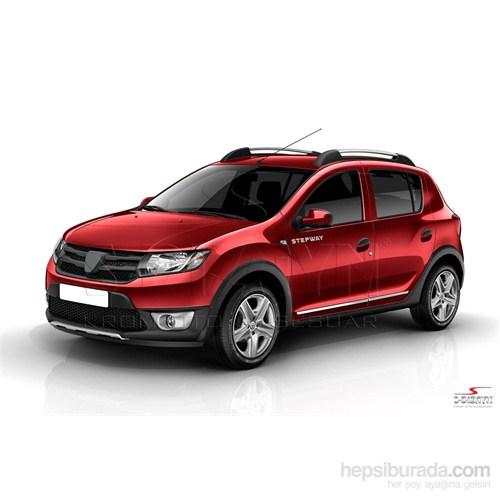 S-Dizayn Dacia Sandero Stepway 2013 Kapı Koruma Çıtası Krom P.Çelik + Abs Plastik 8 Prç.