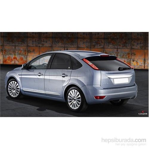 S-Dizayn Ford Focus 2 Hb 2008-2011 Arası Kapı Koruma Çıtası Krom P.Çelik + Abs Plastik 8 Prç.