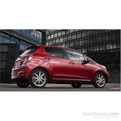S-Dizayn Toyota Yaris 2012 Üzeri Kapı Koruma Çıtası Krom P.Çelik + Abs Plastik 8 Prç.
