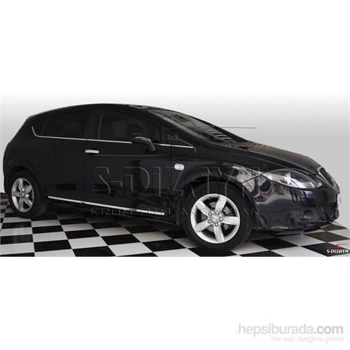 S-Dizayn Seat Leon 2000-2012 Model ve Arası Sinyal Çerçevesi 2 Prç. Krom P.Çelik