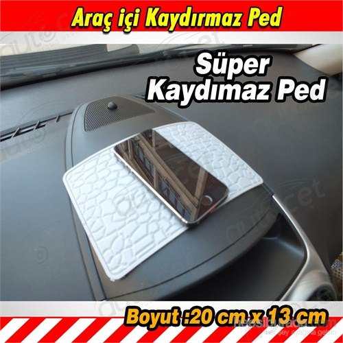 AutoCet GRİ Araç içi Kaydırmaz Ped 3451a
