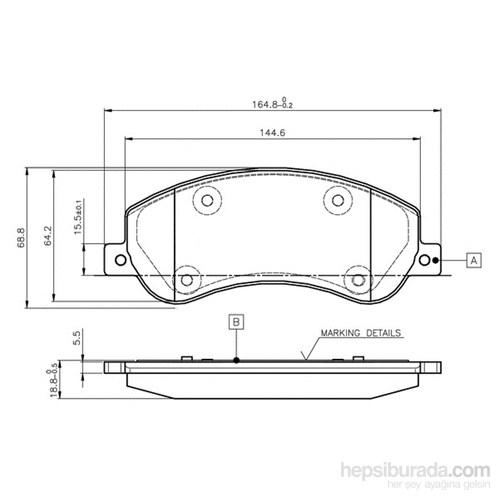 Bosch - Fren Balatası Ön Ford Transit V 347 - Bsc 0 986 Tb2 951