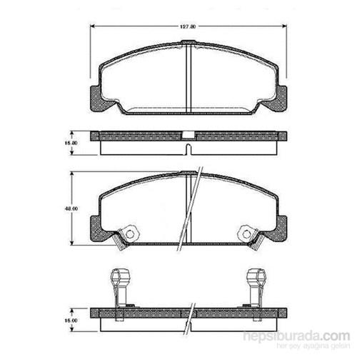 Bosch - Fren Balatası Ön (Honda Cıvıc Iıı (Ec) [ 127,8X48x15,0/15,8 Mm ] - İkaz Kablolu - Bsc 0 986 Tb2 097