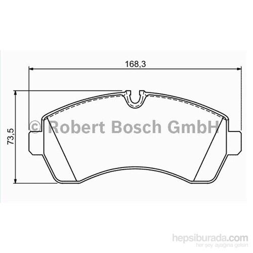 Bosch - Fren Balatası Ön (Mb Sprınter 5-T (906) 509 Cdı) [ 169,1X73,5X20,8 Mm ] - Bsc 0 986 Tb2 946