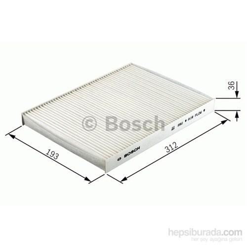 Bosch - Filtre (İç Kısım) (Audı A6) - Bsc 1 987 432 024