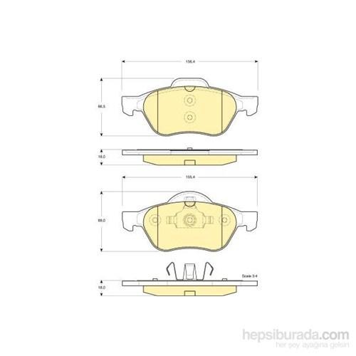 Bosch - Fren Balatası Ön Renault Megane Iı Laguna Iı - Bsc 0 986 Tb2 434