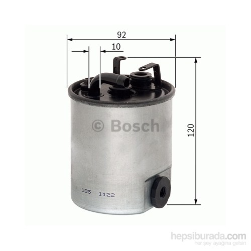 Bosch - Yakıt Filtresi Spınter-Vıto 108-112-413 Cdı/Vaneo 1.7 Cdı-A160 Isıtma Sensörlü Kl174 - Bsc F 026 402 044