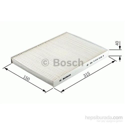 Bosch - Polen Filtresi Aktif Karbonlu Citroen C5 P.407 04> - Bsc 1 987 432 412