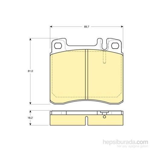 Bosch - Fren Balatası Ön (Mb S Serısı (W140)(02/91-10/98) '300 Se) [Wva 21304] - [ 89,7X81x18,2 Mm ] - - Bsc 0 986 Tb2 682