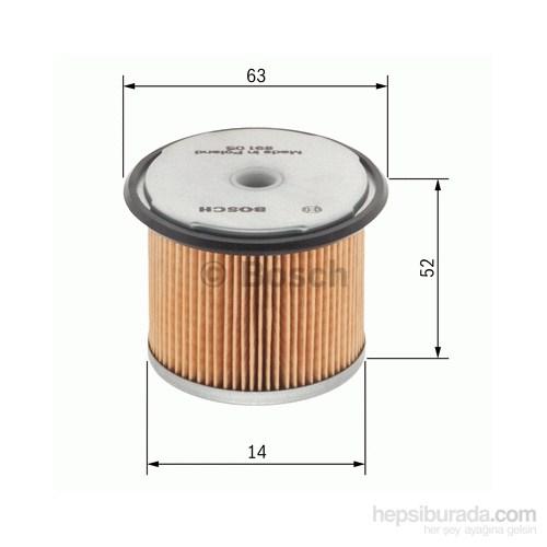 Bosch - Yakıt Filtresi (Renault Express 1.9D [09.91-10.97) - Bsc 1 457 431 028