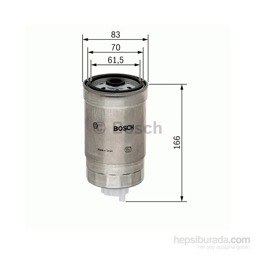 Bosch - Yakıt Filtresi Kutusu (Kia Sorento 2.5 Crdı [07.02-]) - Bsc 1 457 434 310